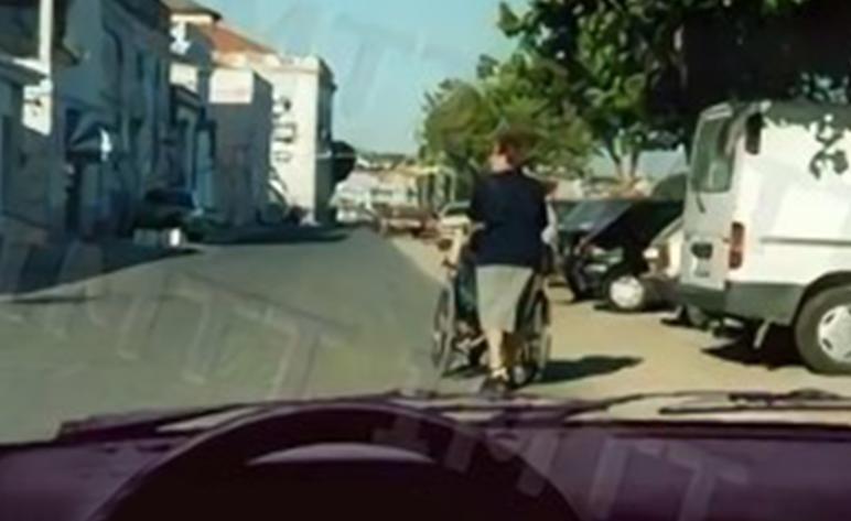 O veículo à minha frente é um velocípede?